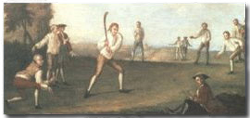 camden cricket club old painting